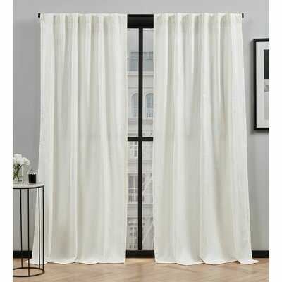 Mudd Geometric Semi-Sheer Rod Pocket Curtain Panels - AllModern