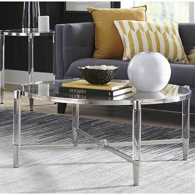 Laurette Frame Coffee Table with Storage - Wayfair