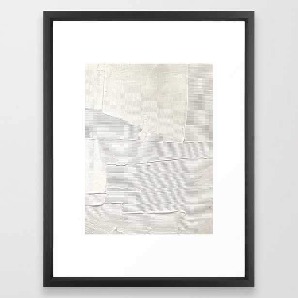 Relief [1]: An Abstract, Textured Piece In White By Alyssa Hamilton Art Framed Art Print by Alyssa Hamilton Art - Vector Black - MEDIUM (Gallery)-20x26 - Society6