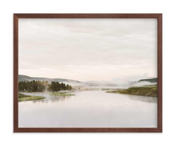 Misty Lake Art Print - Minted