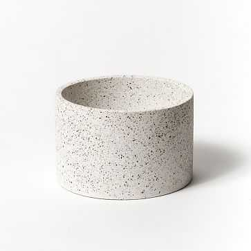 Pretti Cool Cylinder Vessel, White Terrazzo - West Elm