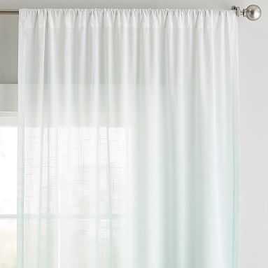 "Ombre Sheer Curtain Panel, 108"", Light Pool - Pottery Barn Teen"