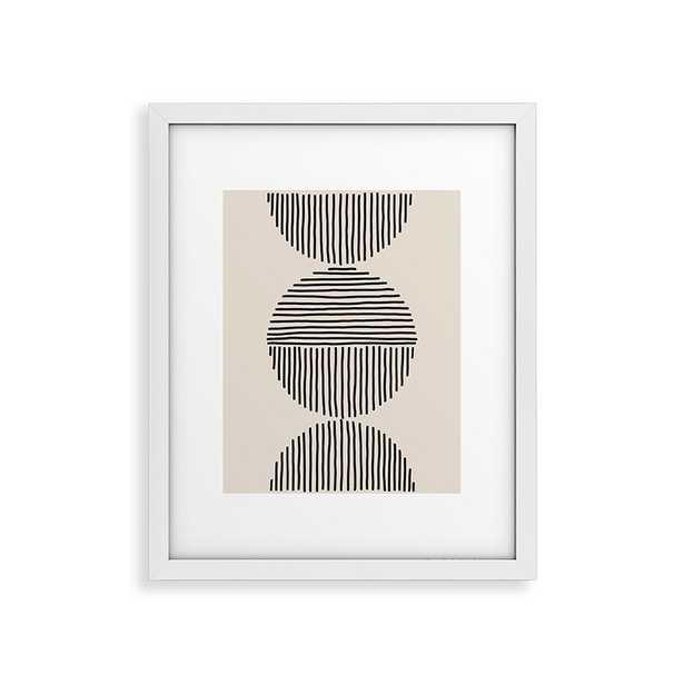 "Evening Lines by Urban Wild Studio - Modern Framed Art Print White 11"" x 14"" - Haldin"