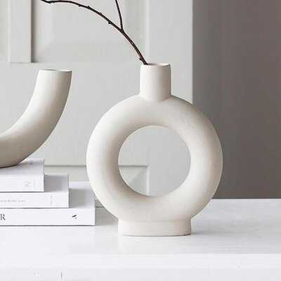 Ceramic Minimalist Vase, Minimalist Bisque, Handmade Ceramic Vase - AllModern