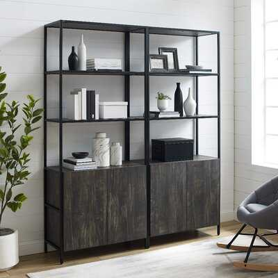 Whitted 80.5'' H x 68'' W Steel Etagere Bookcase (set of 2) - Wayfair