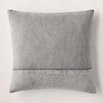 """Cotton Canvas Pillow Cover, 18""""x18"""", Iron, Set of 2 - West Elm"""
