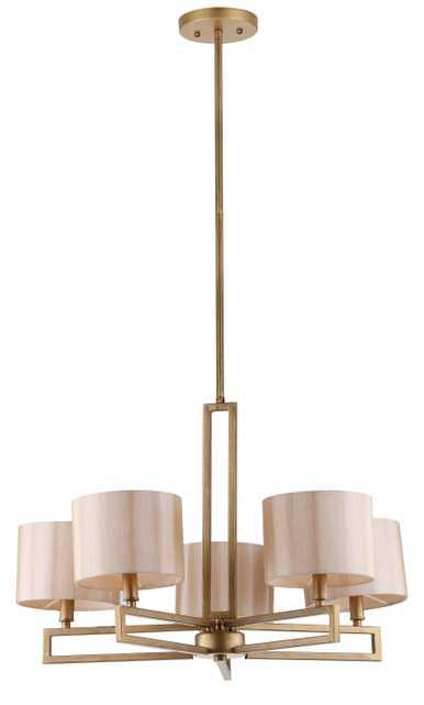 Catena 5 Light 25 Inch Dia Adjustable Chandelier - Antique Gold - Arlo Home - Arlo Home