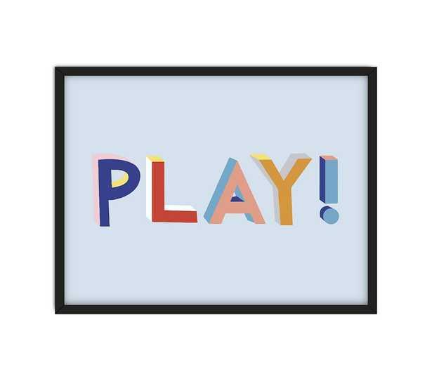 Chasing Paper PLAY! Art, Black Frame - Pottery Barn Kids