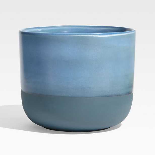 Juxton Medium Blue Planter - Crate and Barrel