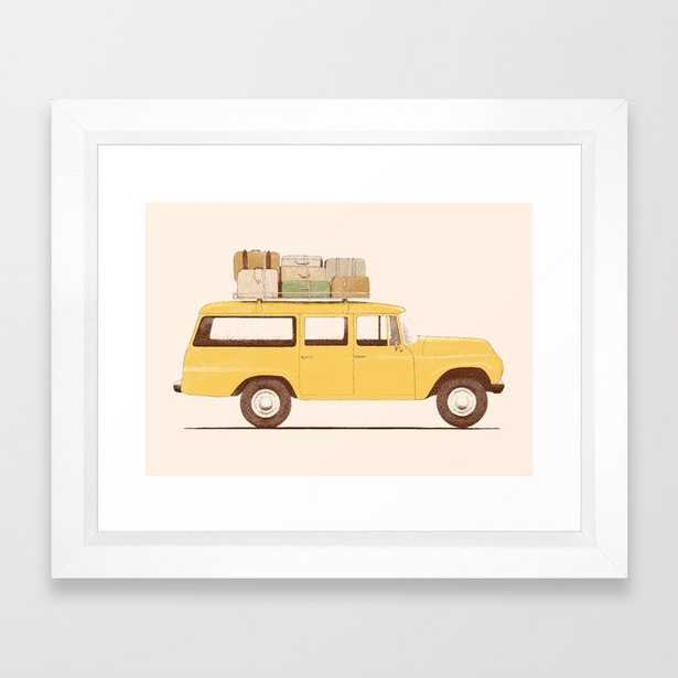 Summer Car Framed Art Print by Florent Bodart / Speakerine - Vector White - X-Small-10x12 - Society6
