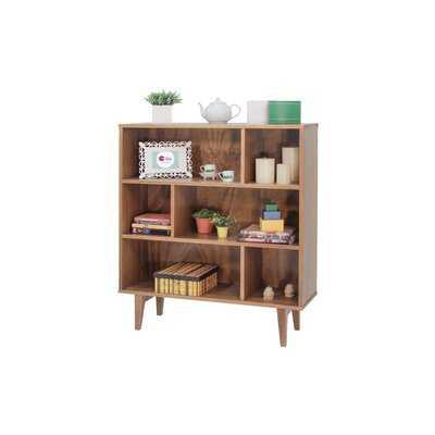 "Houchin 43.3"" H x 39.4"" W Solid Wood Geometric Bookcase - Wayfair"