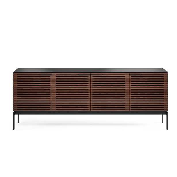 """BDI Corridor TV Stand for TVs up to 88"""" Color: Chocolate Stained Walnut - Perigold"""