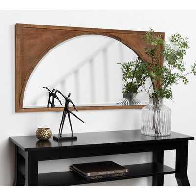 Eliza Modern Wood Framed Wall Panel Arch Beveled Accent Mirror - AllModern