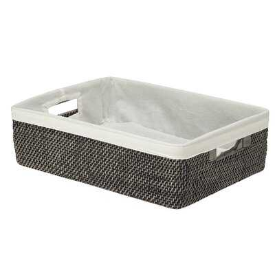 Rattan Shelf Basket with Cotton Liner - Wayfair