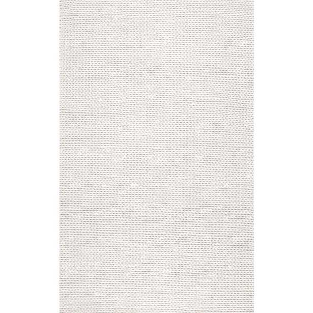 Chunky Woolen Cable Off White 8 ft. x 10 ft. Area Rug - Home Depot