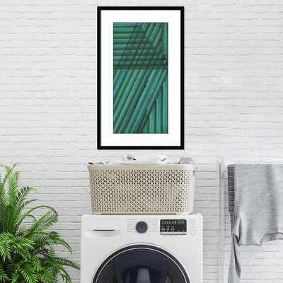 Framed Art Print 'Line Study Blue' By Charles Mcmullen - AllModern