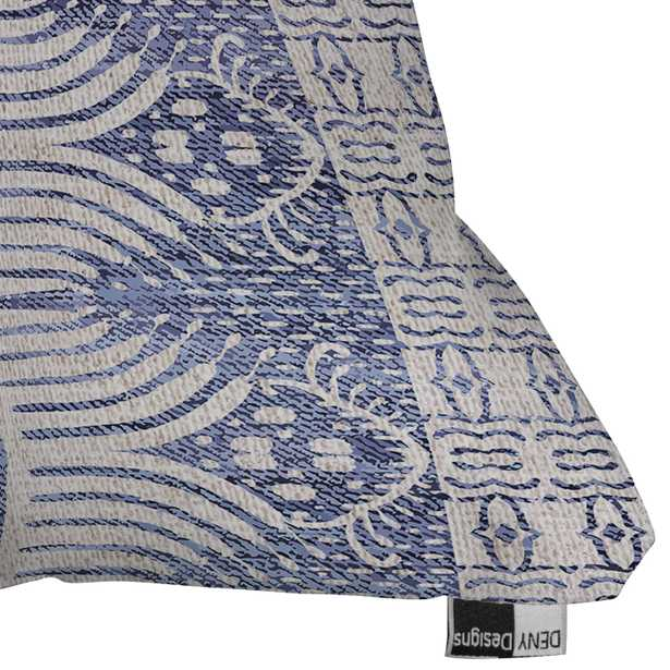 """French Linen Tribal Ikat by Holli Zollinger - Outdoor Throw Pillow 16"""" x 16"""" - Wander Print Co."""