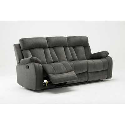 """Sandlin Microfiber Reclining 84"""" Pillow Top Arm Sofa - Wayfair"""