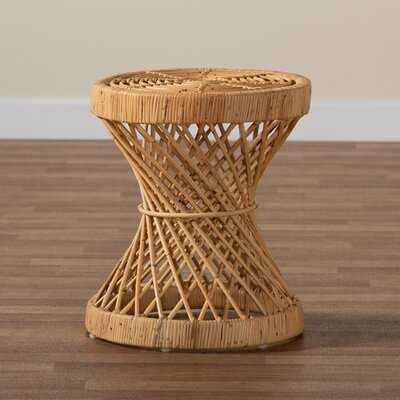 Haywards Modern And Contemporary Natural Finished Rattan End Table - Wayfair