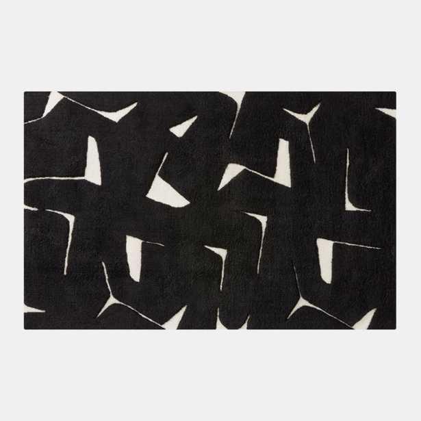 Sway Black Tufted Rug 8'x10' - CB2