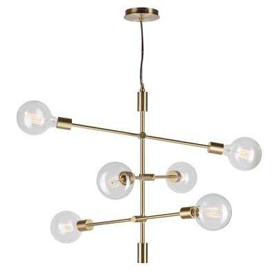 Hartness 6 - Light Sputnik Geometric Chandelier - Wayfair