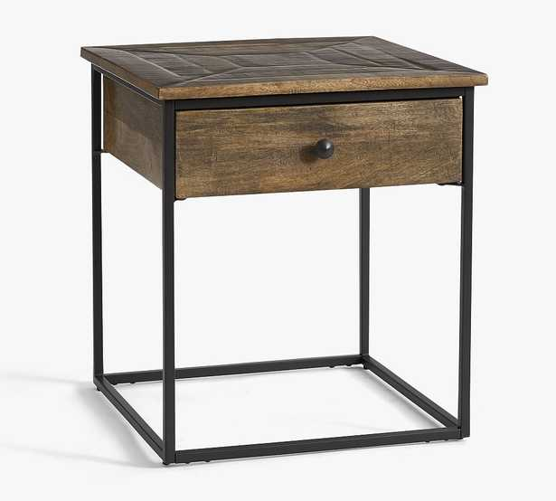 Sanford Square End Table, Cobble Brown - Pottery Barn