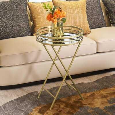 Meayki Tray Top Cross Legs End Table - Wayfair