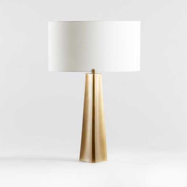 Isla Brass Triangle Table Lamp, Set of 2 - Crate and Barrel
