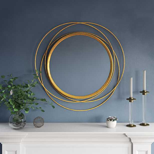 Aspire Home Accents Mia 32 in. x 32 in. Round Wall Mirror - Home Depot