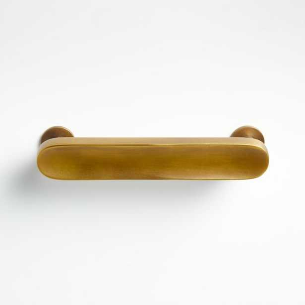 """Oval 4"""" Antique Brass Handle - Crate and Barrel"""