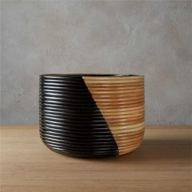 Basket Large Black Planter - CB2