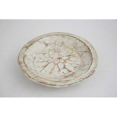 Jeremie Painted Round Rustic Wooden Dough Decorative Bowl - Birch Lane