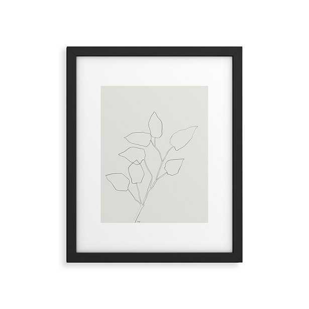 "Floral Study No 5 by Megan Galante - Modern Framed Art Print Black 16"" x 20"" - Cove Goods"