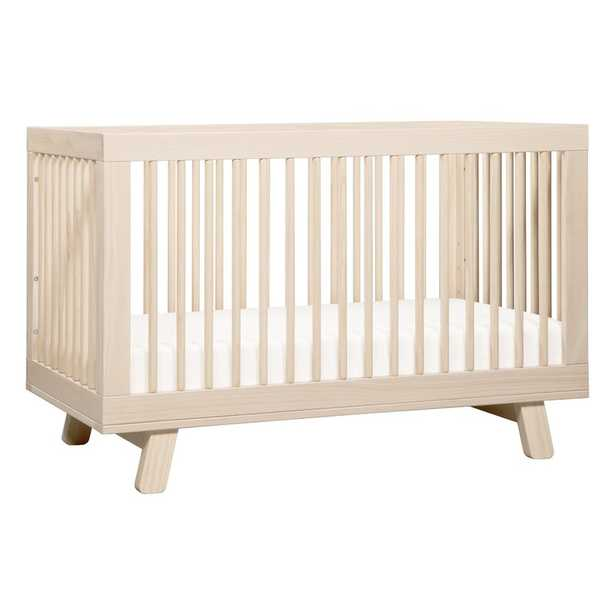 Hudson 3-in-1 Standard Convertible Crib Color: Washed Natural - Perigold