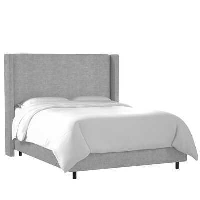 Amera Upholstered Low Profile Standard Bed, Gray, King - Wayfair