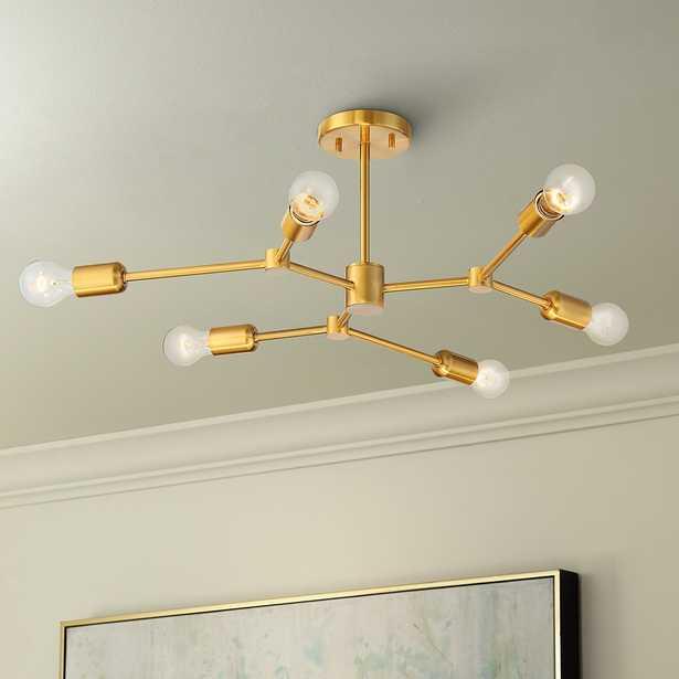 "Marco 25"" Wide Burnished Brass 6-Light Sputnik Ceiling Light - Style # 79X88 - Lamps Plus"