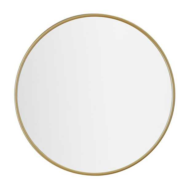 No Nails Metal Framed Mirror, Tuscan Gold, 24 In - Pottery Barn Teen