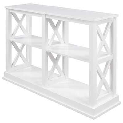 """Console Table With 3-Tier Open Storage Spaces And X"""" Legs"""" - Wayfair"""