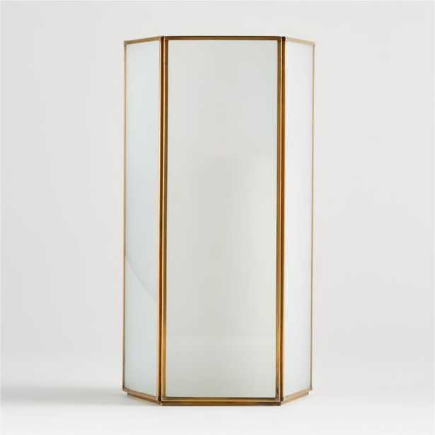 Andelyn Frosted Glass Hurricane, Large - Crate and Barrel