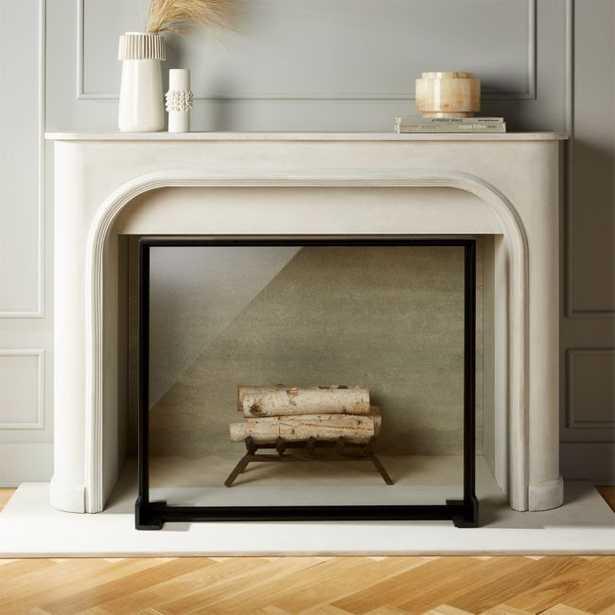 Ledge Glass Fireplace Screen - CB2