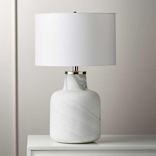 Large Marblized Grey Table Lamp - CB2