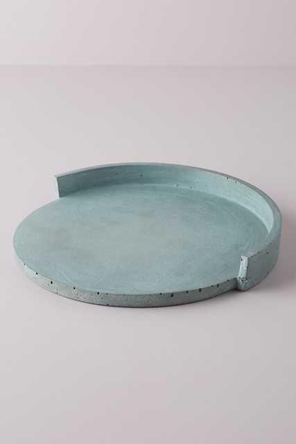 Alice Tacheny Concrete Slab Tray By Alice Tacheny in Blue - Anthropologie