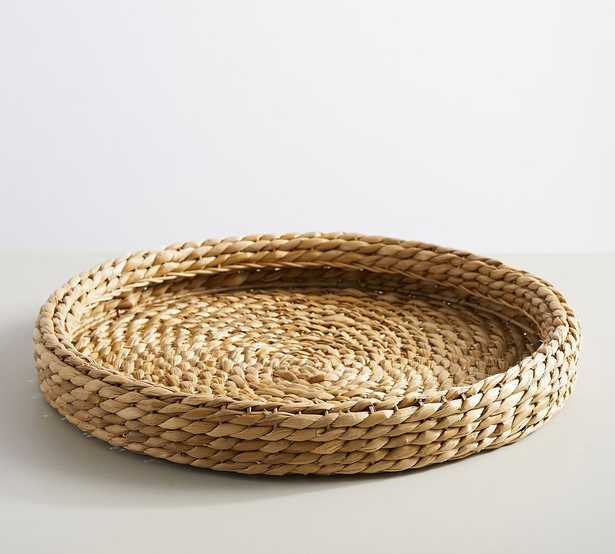 Handwoven Seagrass Round Tray, Large - Pottery Barn