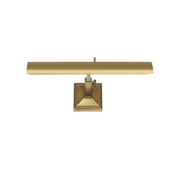 WAC Lighting Hemmingway 14 in. Burnished Brass LED Adjustable Picture Light, 2700K - Home Depot