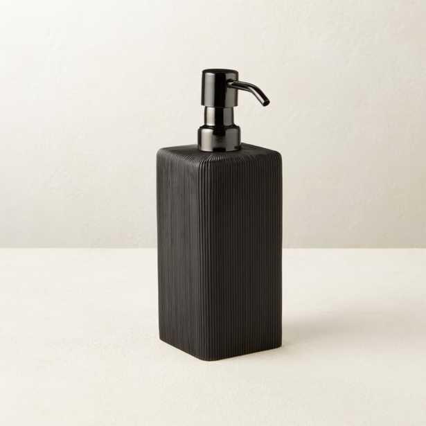 Parello Pleated Black Soap Pump - CB2