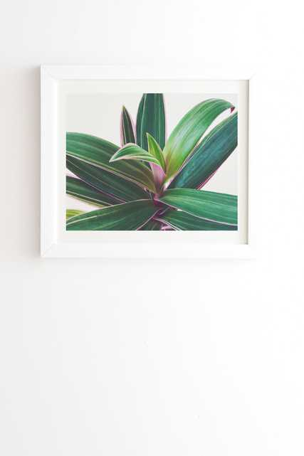 """Oyster Plant by Cassia Beck - Framed Wall Art Basic White 19"""" x 22.4"""" - Wander Print Co."""