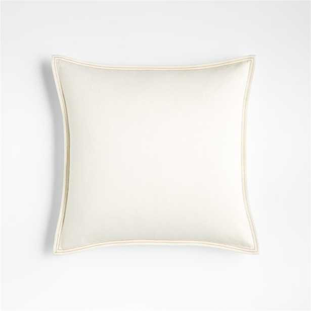 """Blanca 18"""" Denim White Pillow Cover - Crate and Barrel"""
