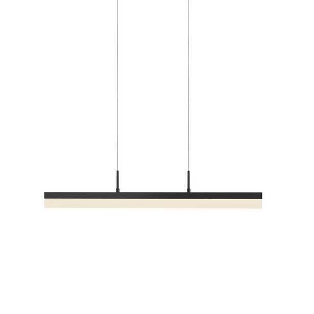 Sonneman Stiletto 1-Light LED Kitchen Island Rectangle Pendant Finish: Satin Black - Perigold