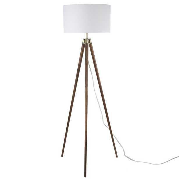 Light Society Celeste Tripod Floor Lamp in Walnut - Home Depot