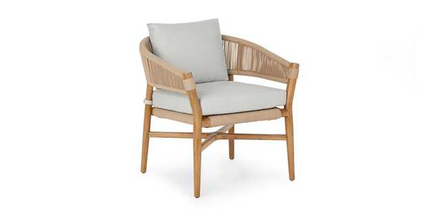 Makali Lily White Lounge Chair - Article